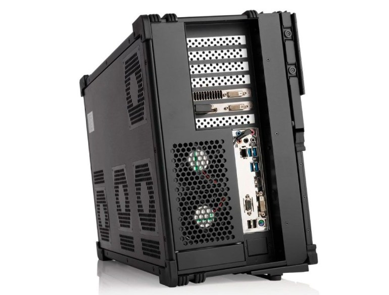 The MediaWorkstations a-X2P mobile workstation offers up to 128 cores (AMD EPYC), up to 2 TB of RAM, storage up to 50 TB, up to 6 displays, and a price tag of over $ 100K.