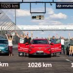 Three teams on Hyundai Kona Electric electric crossovers were able to drive more than 1000 km on a single battery charge of 64 kWh (standard range - 450 km)