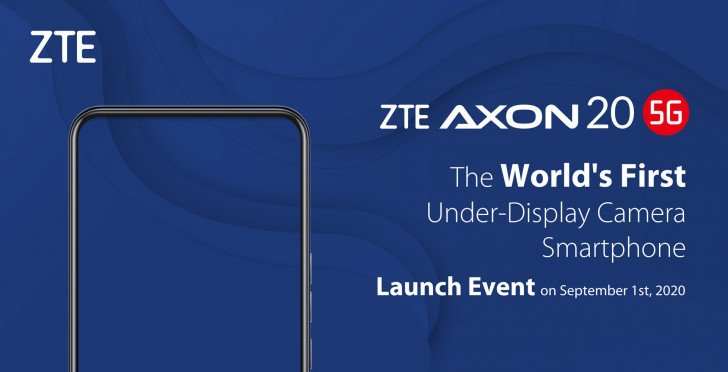 ZTE Axon 20 5G, a smartphone with a sub-screen front camera, will be presented on September 1 TechRechard
