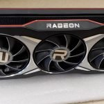 Reference AMD Radeon RX 6900 XT poses for the camera