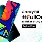 Galaxy F is Samsung's new line of low-cost camera phones.  Firstborn Galaxy F41 comes out on October 8