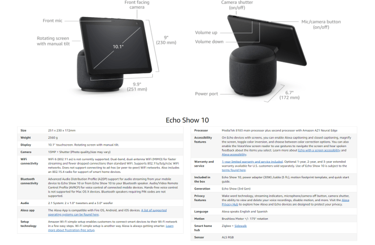 Luna cloud gaming service, security drone with built-in camera and Echo sphere speaker.  Top Amazon announcements from the September show
