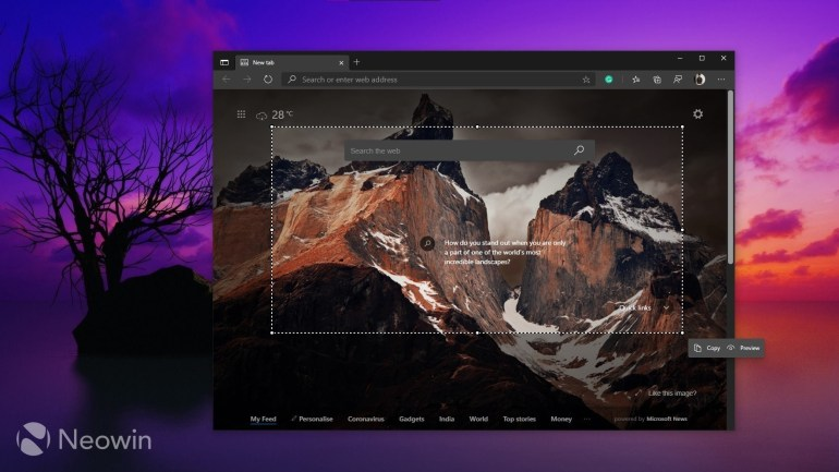 Microsoft announced the Web Capture feature, which is already available in the Edge browser in Canary and Dev channel builds