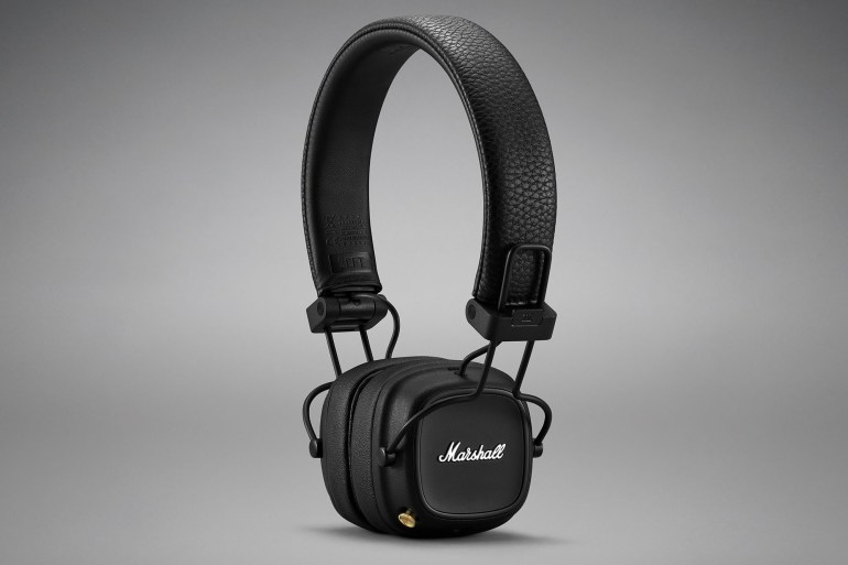 The new Marshall Major IV wireless headphones have a battery life of up to 80 hours and supports Qi wireless charging