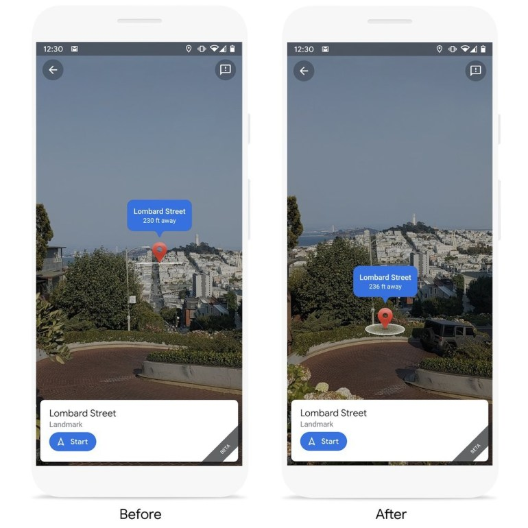Google has improved AR navigation (Live View function) in Maps - visual cues with places of interest, support for public transport and sending geodata