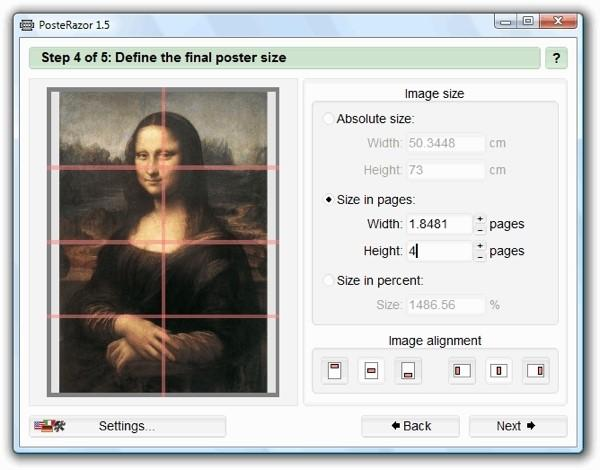 How to print an A4 image on multiple pages