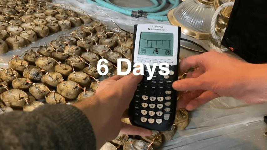 Энтузиаст запустил Doom на калькуляторе TI-84 Plus, запитанном от картошки