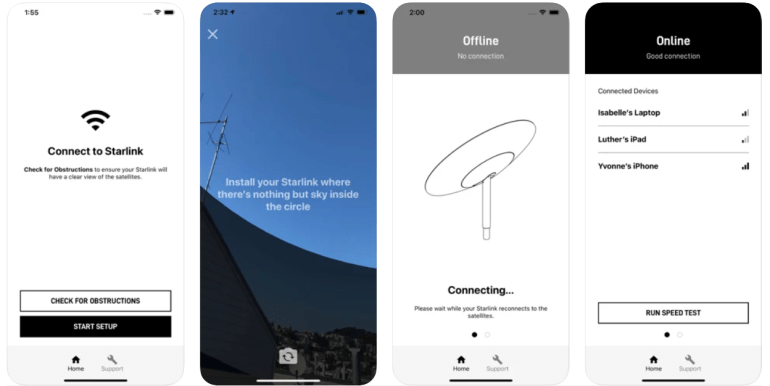 Internet from Elon Musk will start working by the end of this year.  Starlink app appeared in the App Store