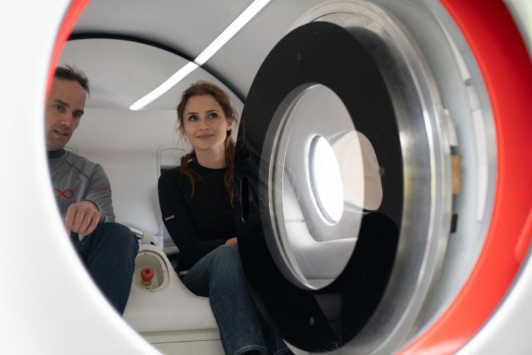 Virgin Hyperloop conducts first test ride with passengers in a capsule