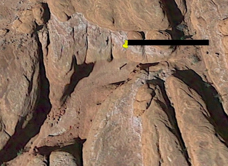 The location of the mysterious monolith in Utah was revealed using Google Earth