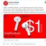 OnePlus will be giving away OnePlus Buds for $ 1 today