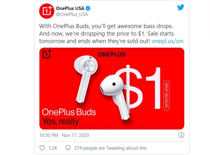 OnePlus will be giving away OnePlus Buds for $ 1 today TechRechard