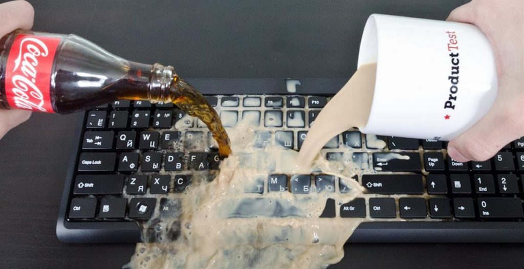 What to do if water is spilled on your laptop or keyboard