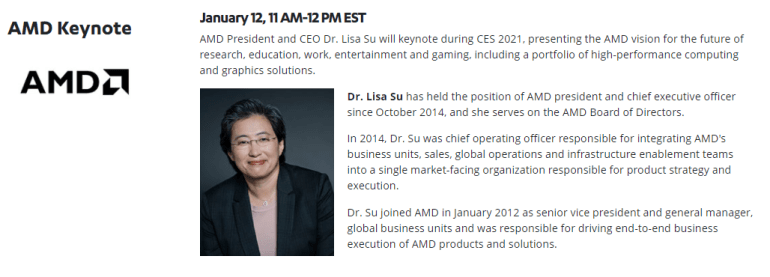 On January 12, AMD will host an online presentation at CES 2021 - with the expected announcement of Ryzen 5000 mobile processors and Radeon RX 6700 (XT) video cards