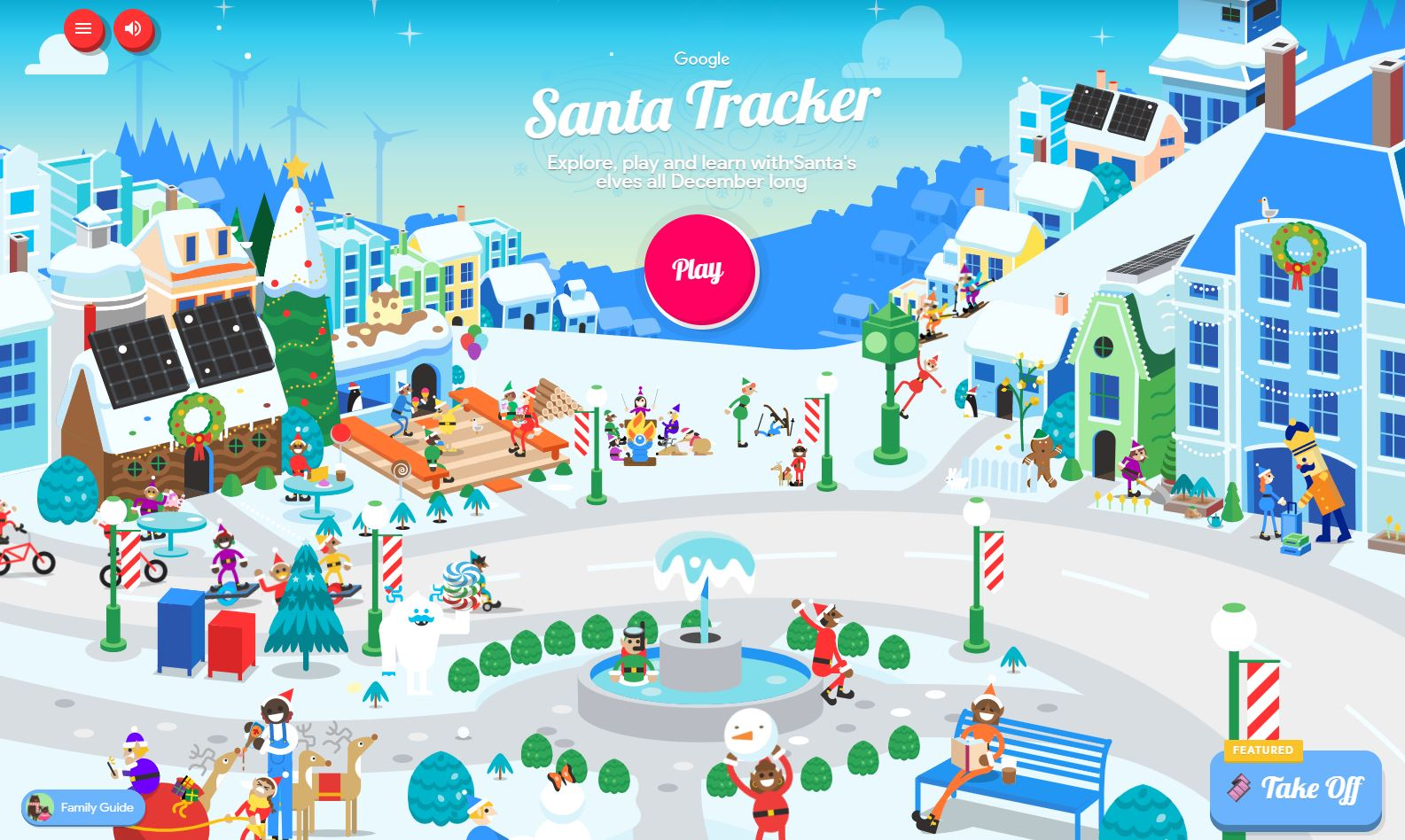 Google Launches Traditional New Year's Eve Site With Games And Santa's Radar TechRechard