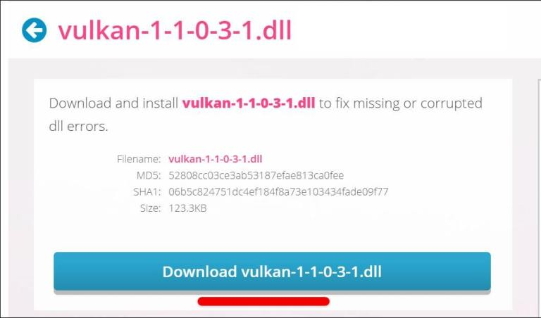How to Fix Vulkan-1.dll is Missing or Not Found in Windows 10 in 2021 TechRechard
