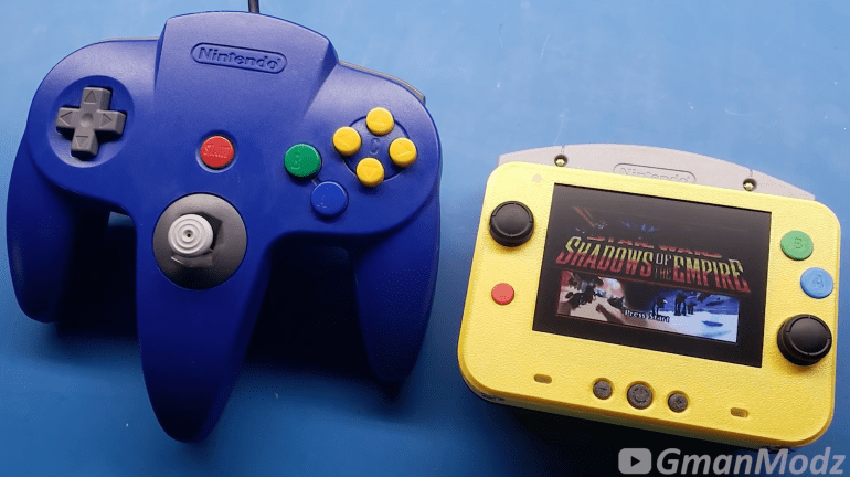 Modderr created a pocket version of the Nintendo 64 console that was even smaller than its original controller