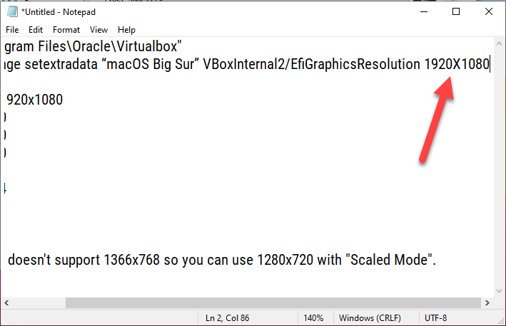 How to Fix macOS Big Sur Screen Resolution on VirtualBox