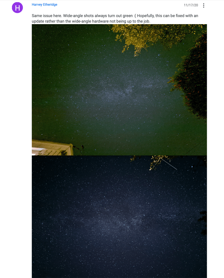 The updated Google Camera version 8.1 removed the ability to use astrophotography on ultra-wide-angle cameras