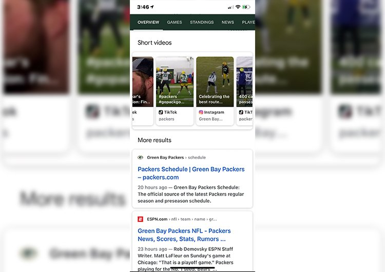 Videos from TikTok and instagram will appear on Google SERP