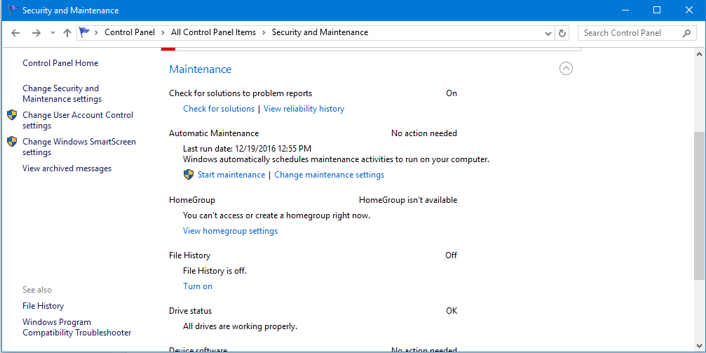 How to Change or Disable Automatic Windows 10 Maintenance