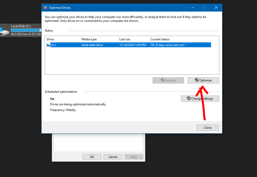Speed Up Windows 10: Defragmenting Drives