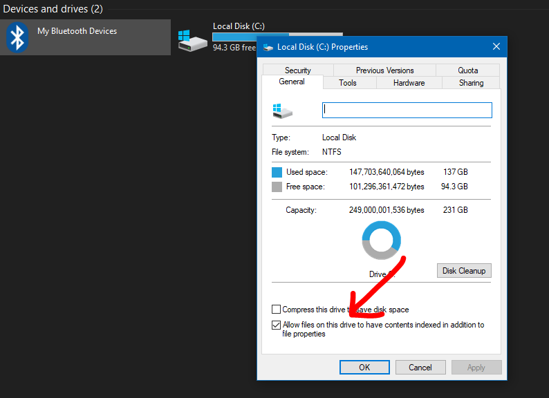 Speed Up Windows 10: Disable Indexing Drives