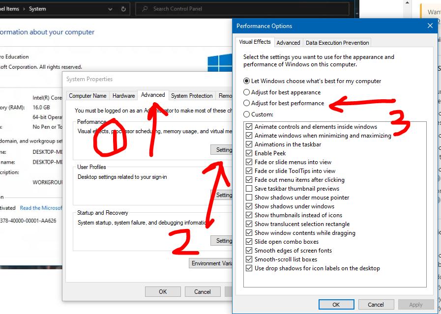 Speed Up Windows 10: Adjusting for Best Performance