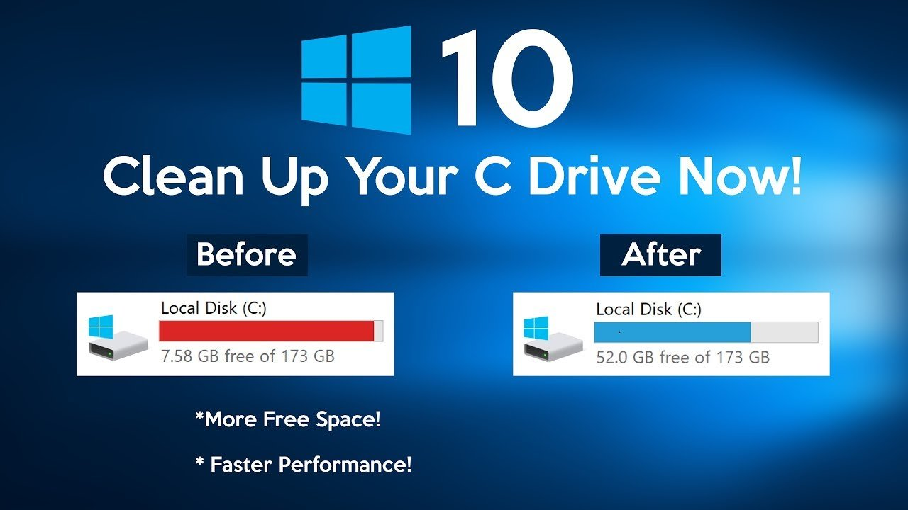 Free Up Disk Space And Clean C Drive