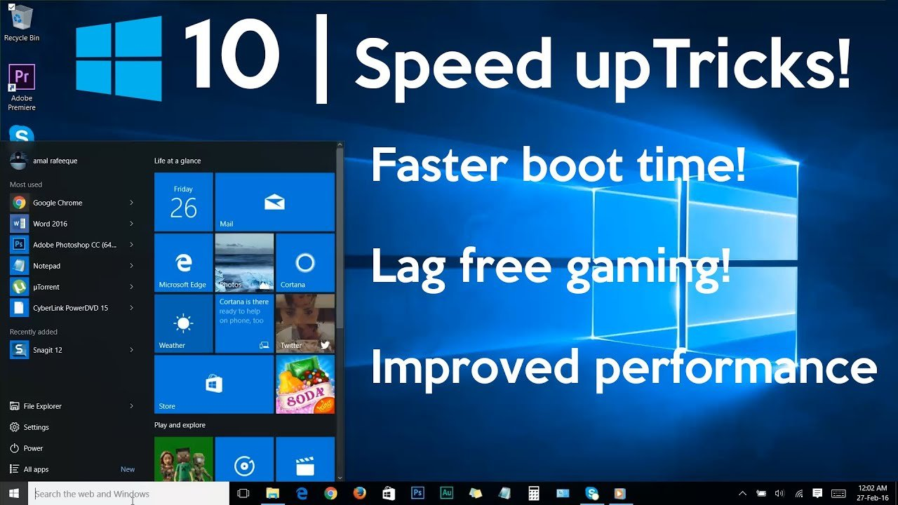 How To Speed Up Windows 10 Computer