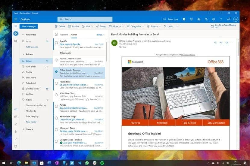 Microsoft will replace mail and calendar in Windows 10 with a single application