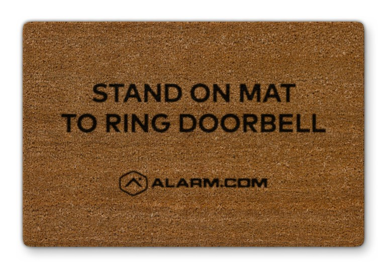 Alarm.com has created a contactless doorbell with video recording capability