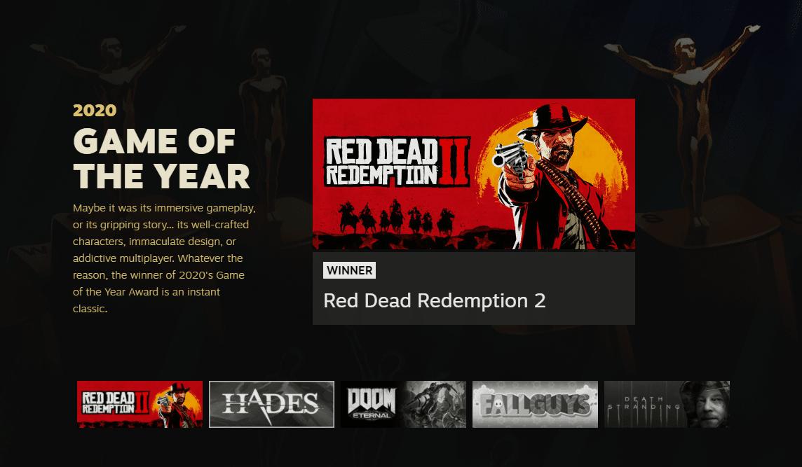 Valve Names 2020 Steam Awards Winners TechRechard