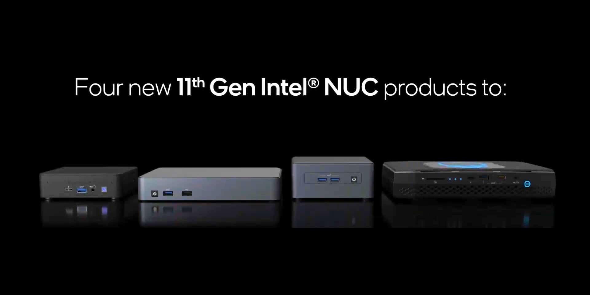 Intel unveils the NUC 11 series of mini-computers. TechRechard