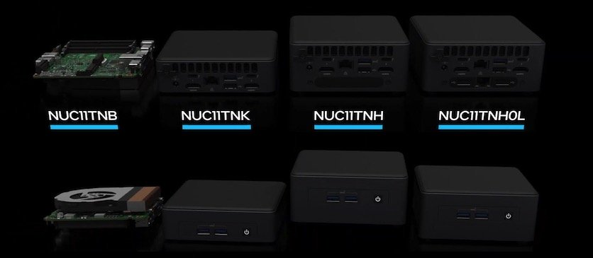 CES 2021: Intel Unveils NUC 11 Series of Mini PCs. From Budget Nettop to Flagship with Discrete Graphics