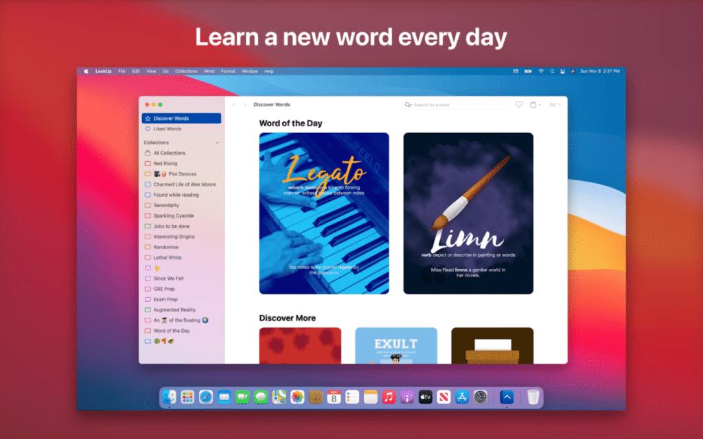 Best Widgets for macOS Big Sur- lookup