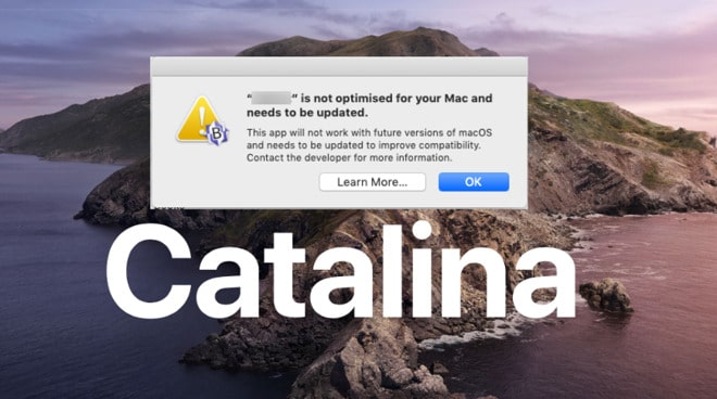 Apps not working in macOS Catalina; how to fix?