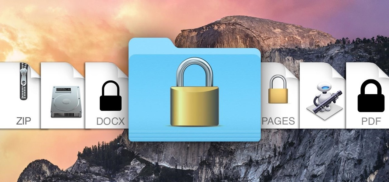 How to put your password on a folder in macOS.
