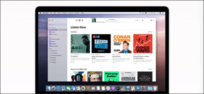 Podcasts app on Mac