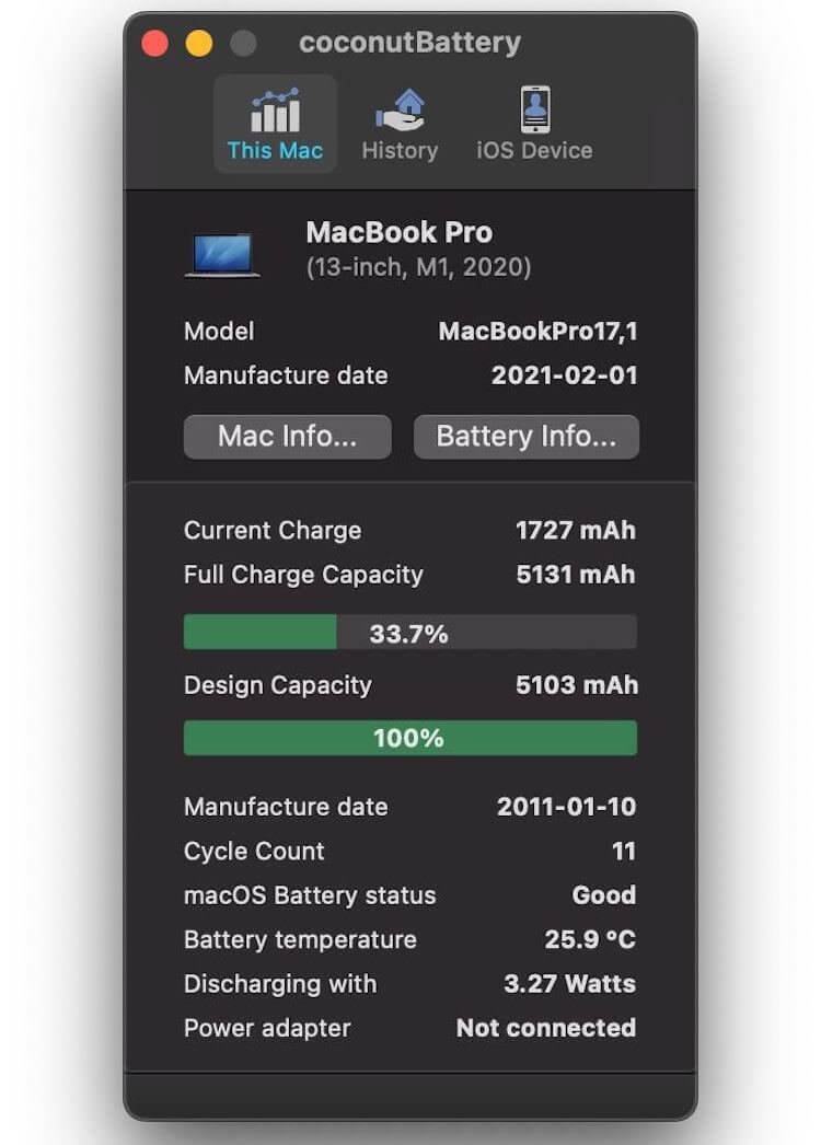 The MacBook Air and MacBook Pro on the M1 are drastically reduced in battery capacity. Check your laptop! TechRechard