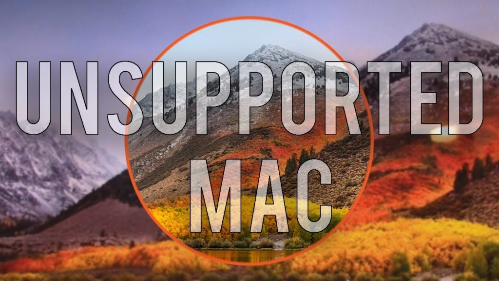install macOS High Sierra on unsupported Mac