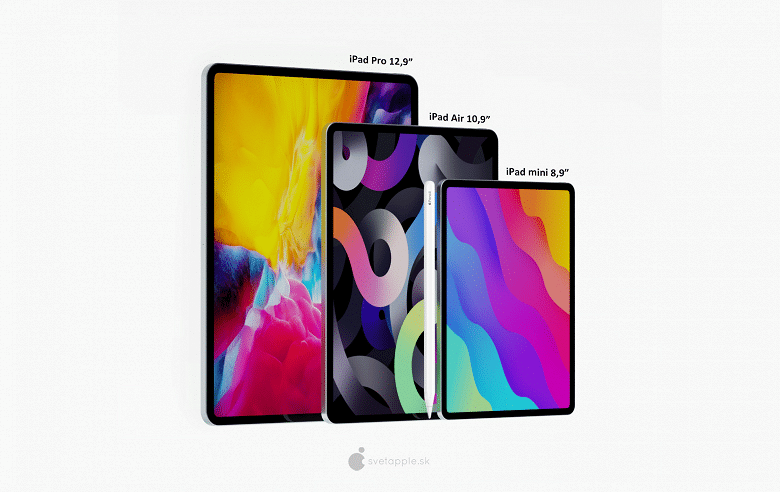 Apple iPad Mini Pro with 8.9-inch display and Face ID poses for high-quality renders TechRechard