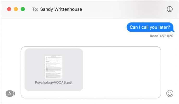 Ways to Send Files Between Macs: Via Messages